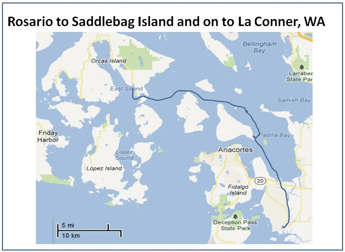 Rosario To Saddlebag Island To La Conner Map Memory