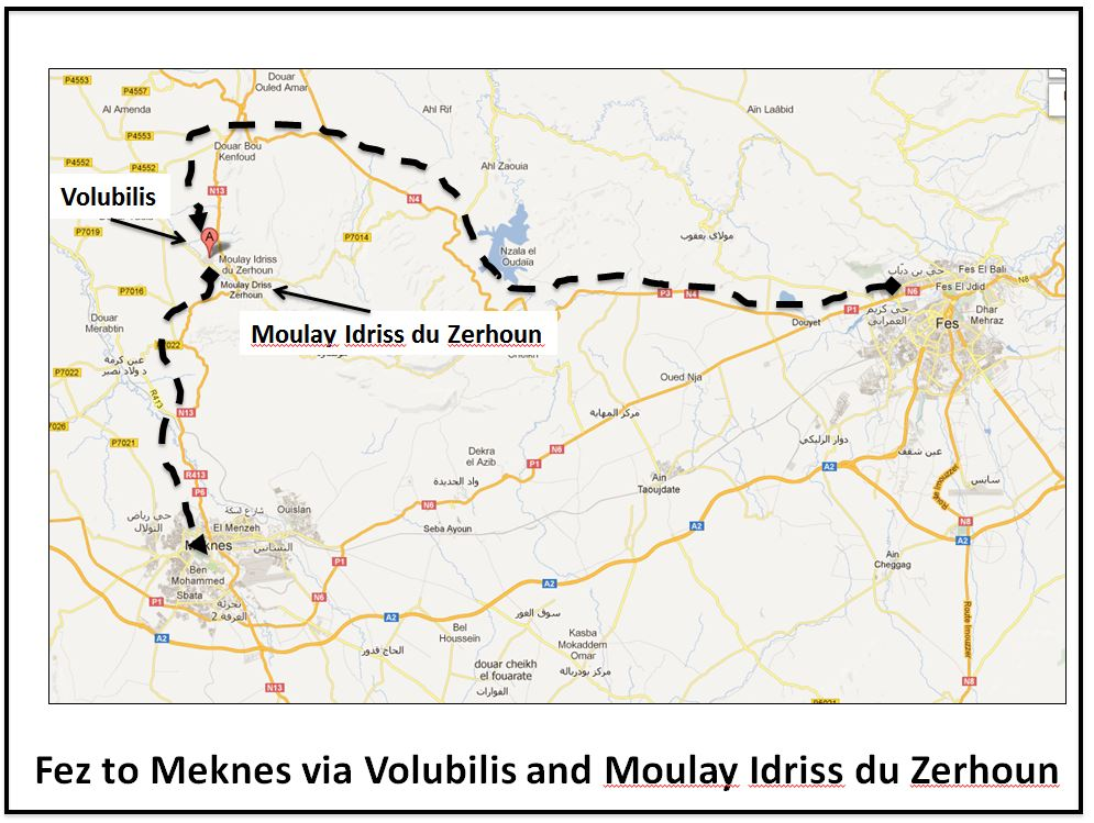 Fez to Meknes via Volubilis and Moulay Idriss du Zerhoun