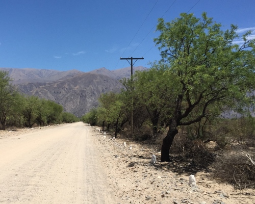 Road to Ruinas de Los Indios Quilmes after leaving Argentina Route 40.